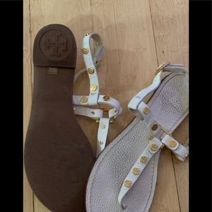 Sandal slightly worn inside-bottoms fine condition